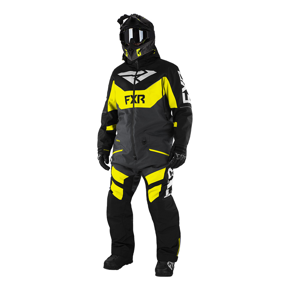 Комбинезон FXR Fuel FX с утеплителем Black/Char/Hi Vis/Grey