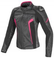 DAINESE RACING D1 LADY LEATHER JACKET- BIANCO/NERO/ROSSO-FLUO куртка кож жен