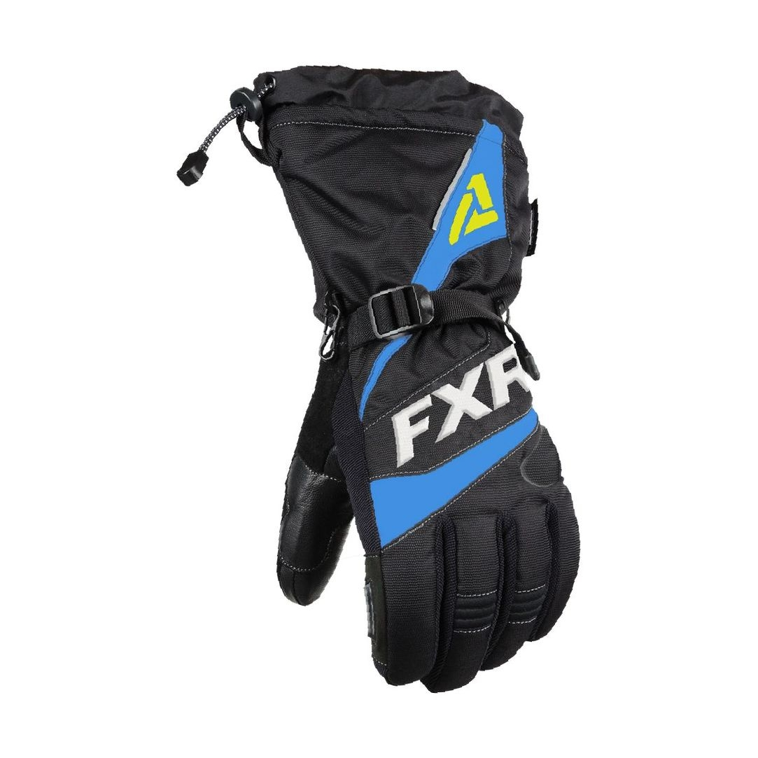 Перчатки FXR Fuel с утеплителем Black/Blue/Hi Vis