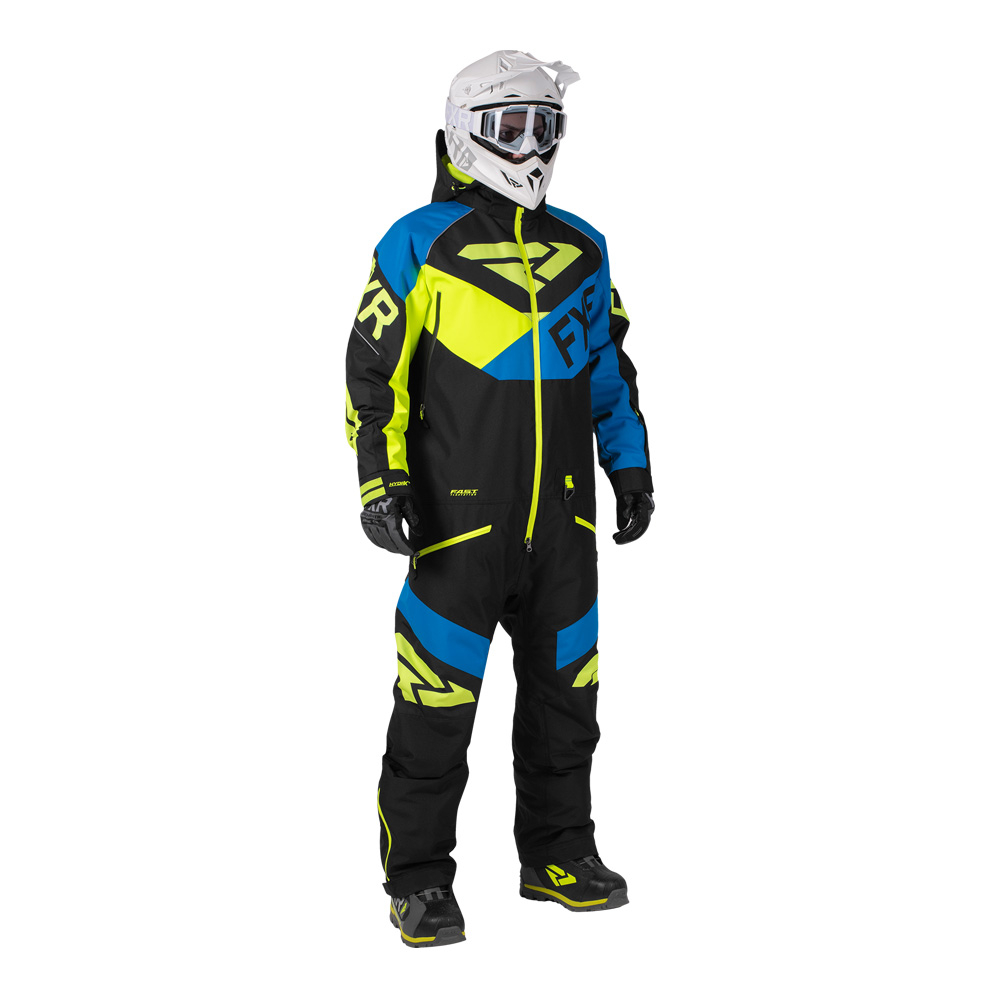 Комбинезон FXR Fuel с утеплителем Black/Blue/Hi Vis