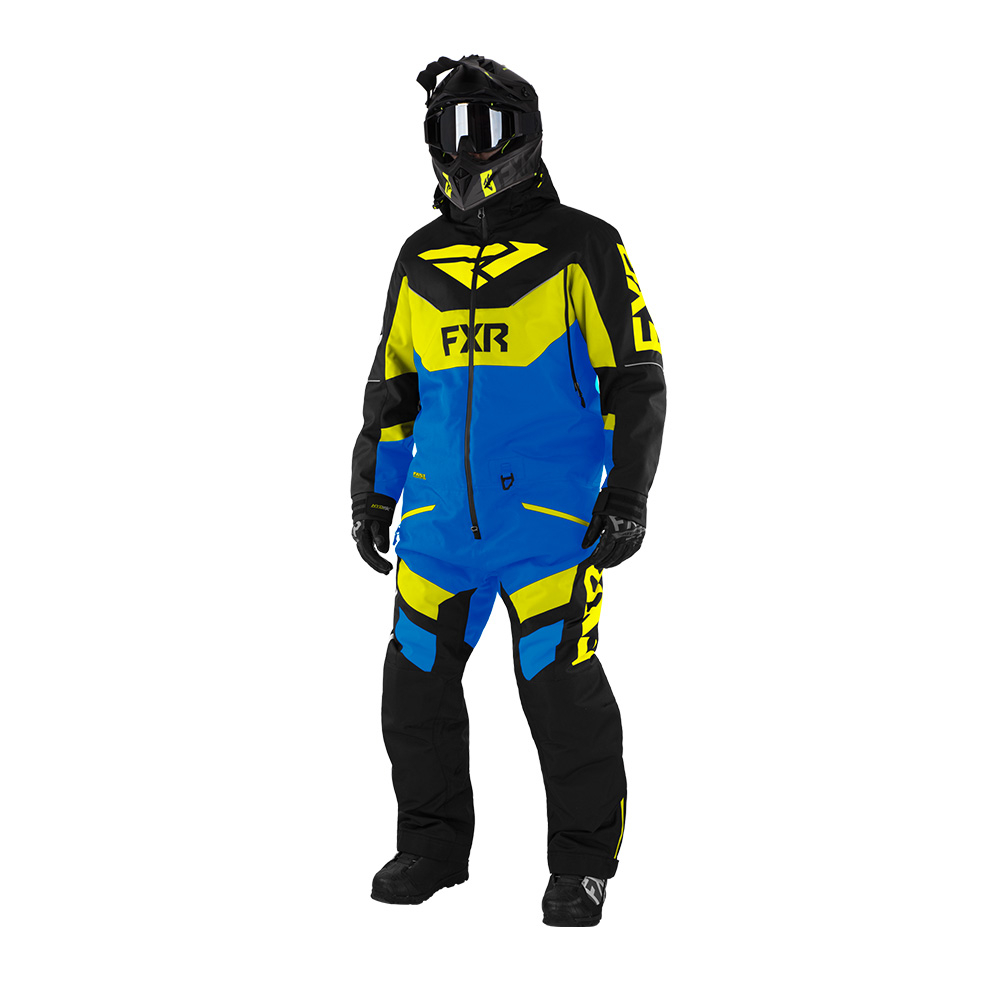 Комбинезон FXR Fuel FX с утеплителем Black/Blue/Hi Vis