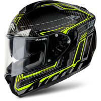 AIROH шлем интеграл ST701 SAFETY FULL CARBON YELLOW GLOSS