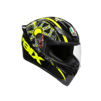 Шлем AGV K-1 Top Flavum 46 Black/Yellow-Fluo