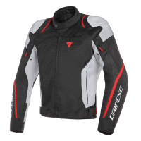 DAINESE AIR MASTER TEX JACKET - BLACK/GLACIER-GRAY/FLUO-RED куртка тек муж