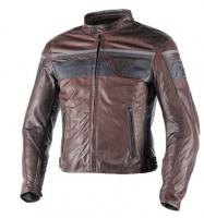 DAINESE BLACKJACK LEATHER JACKET - DARK BROWN/BLACK/BLACK куртка кож муж