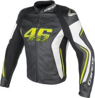 DAINESE VR46 D2 LEATHER JACKET - VR46 куртка кож муж