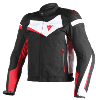 DAINESE VELOSTER TEX JACKET - BLACK/WHITE/RED куртка текстиль муж