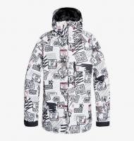 DC SHOES КУРТКА СНОУБОРДИЧЕСКАЯ RETROSPECT Jkt M SNJT WBB8 WHITE MEN PLY MINI PRINT