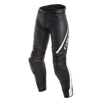 DAINESE ASSEN LADY LEATHER PANTS - BLACK/WHITE брюки кож