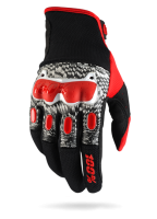 Мотоперчатки 100% Derestricted Glove Black/White/Red
