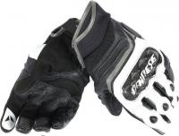 DAINESE CARBON D1 SHORT GLOVES - BLACK/WHITE/ANTRACITE перчатки муж