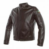 DAINESE AGV 1947 LEATHER JACKET - DARK-BROWN куртка кож муж