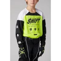 Мотоджерси подростковая Shift White Label Flame Youth Jersey Flow Yellow 2021