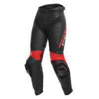 DAINESE DELTA 3 LADY LEATHER PANTS - BLACK/WHITE/RED брюки кож