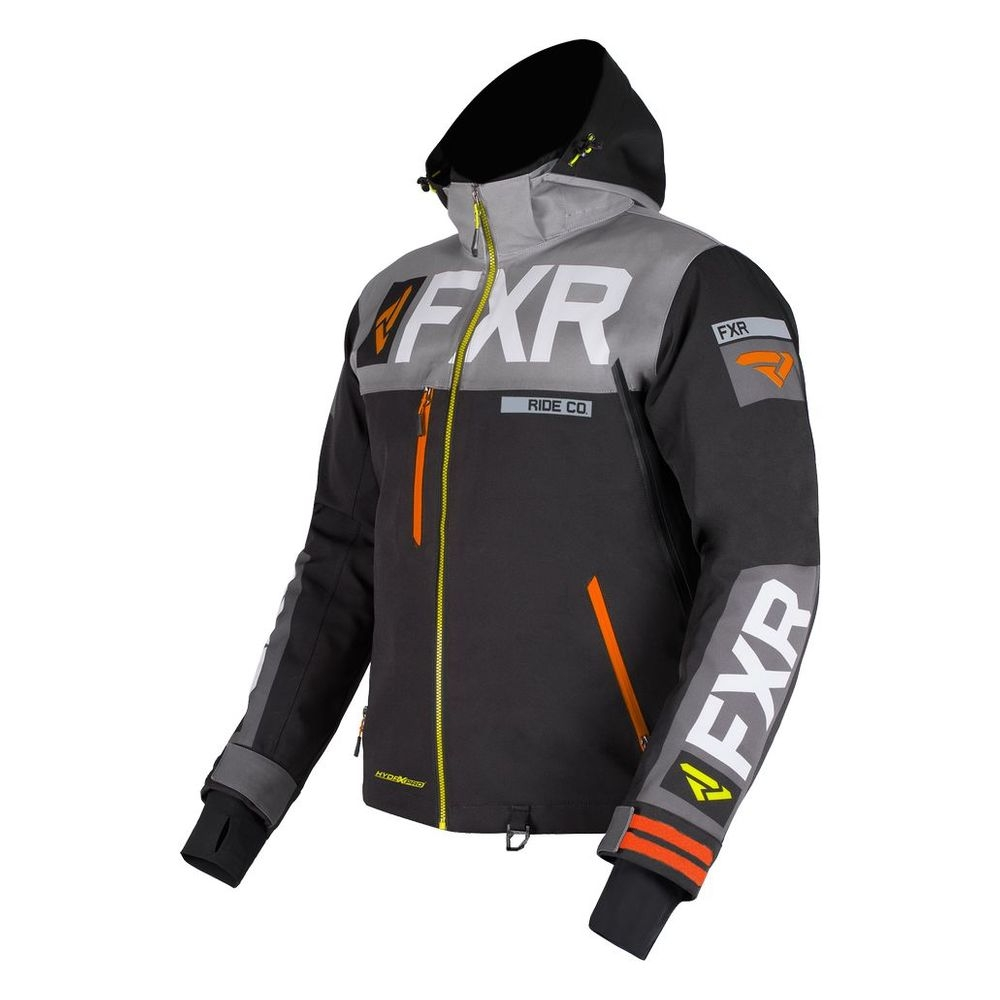 Куртка FXR Helium Pro X с утеплителем Black/Grey/Orange/Hi Vis