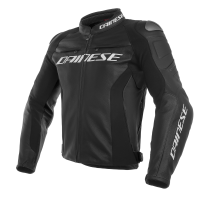 DAINESE RACING 3 LEATHER JACKET - NERO / NERO / NERO куртка кож муж