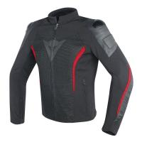 DAINESE MIG LEATHER-TEX JACKET -BLACK/RED куртка тек муж