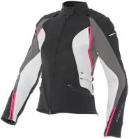 DAINESE ARYA LADY TEX JACKET - NERO/DARK-GULL-GRAY/FUXIA куртка жен
