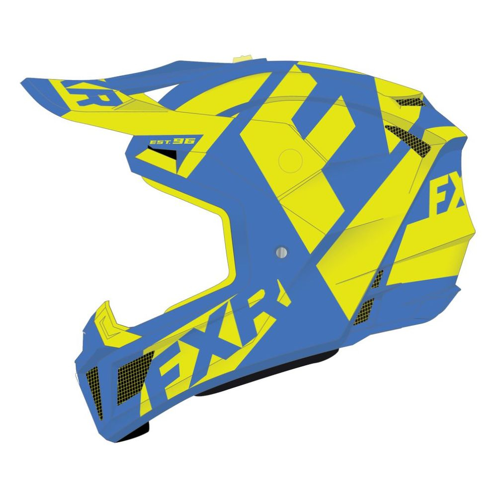 Шлем FXR Clutch CX Blue/Hi Vis