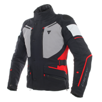 DAINESE CARVE MASTER 2 GORE-TEX JACKET - BLACK/FROST-GREY/RED куртка тек муж
