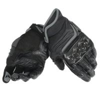 DAINESE CARBON D1 SHORT GLOVES - BLACK/BLACK/BLACK перчатки короткие муж