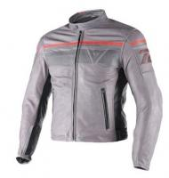 DAINESE BLACKJACK LEATHER JACKET - SMOKE/MAGNESIUM/BLACK куртка кож муж