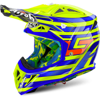 AIROH шлем кросс AVIATOR 2.2 CAIROLI QATAR YELLOW GLOSS