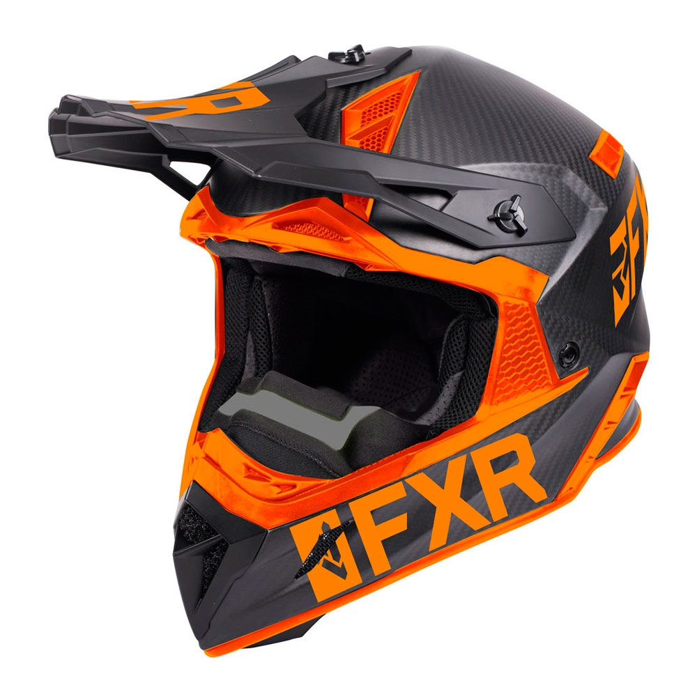 Шлем FXR Helium Carbon Black/Orange