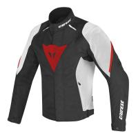 DAINESE LAGUNA SECA D1 D-DRY JACKET - BLACK/WHITE/RED куртка тек муж