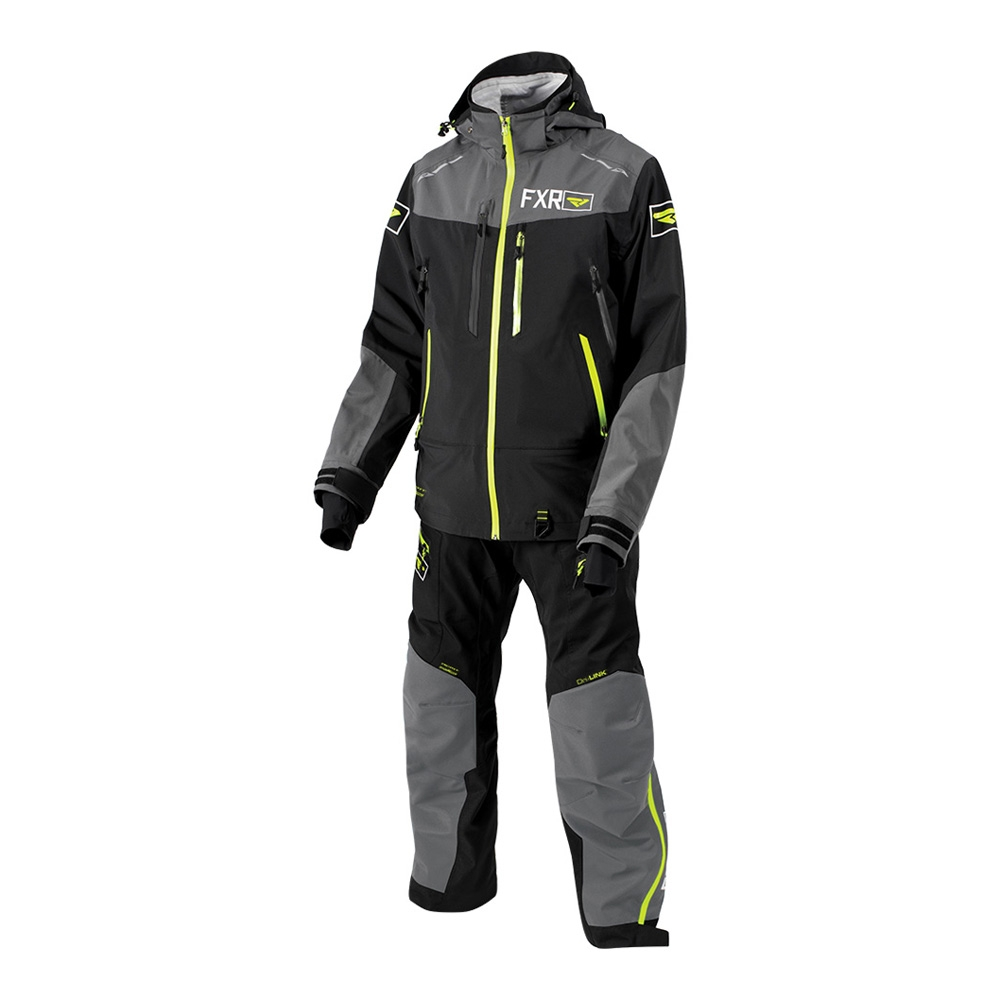 Комплект FXR Elevation Dri-Link без утеплителя Black/Charcoal/Hi-Vis