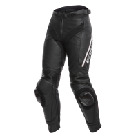 DAINESE DELTA 3 LADY LEATHER PANTS - BLACK/BLACK/WHITE брюки кож
