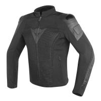 DAINESE MIG LEATHER-TEX JACKET - BLACK/BLACK куртка тек муж
