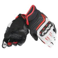 DAINESE CARBON D1 SHORT LADY GLOVES - BLACK/WHITE/FUXIA перчатки жен
