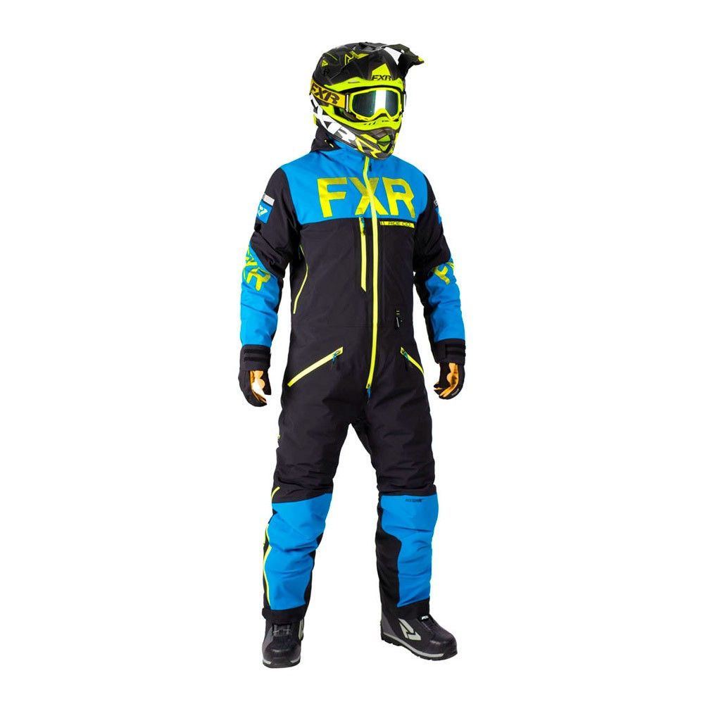 Комбинезон FXR Helium без утеплителя Black/Blue/Hi Vis