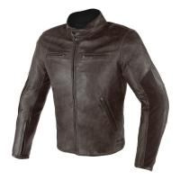 DAINESE STRIPES D1 LEATHER JACKET - DARK-BROWN/DARK-BROWN куртка кож муж