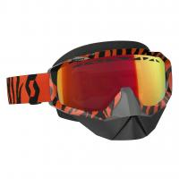 SCOTT зима Очки HUSTLE SNOW CROSS black/fluo orange amplifier red chrome