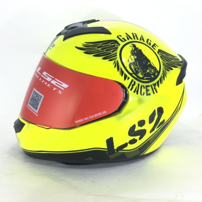 Мотошлем  LS2 FF352 ROOKIE FAN HI-VIS YELLOW фото в интернет-магазине FrontFlip.Ru